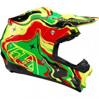 Capacete Motocross - Troy Lee Designs SE3 Galaxy 2015